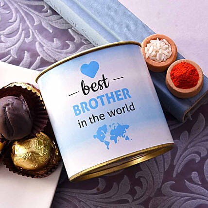 Best Brother Truffle Tin With Roli & Chawal:Brownies
