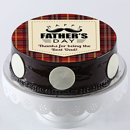 Online Photo Cake For Fathers Day:Happy Fathers Day Cake