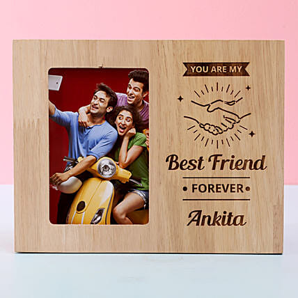 customised wooden frame for him