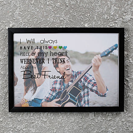 customized photo frame for friend