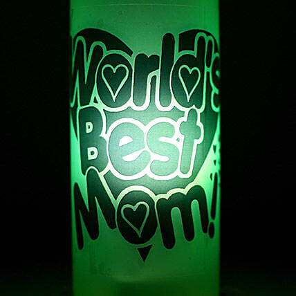 Best Mom Lamp-1 green coloured worlds best mom lamp:Send Led Bottle Lamp