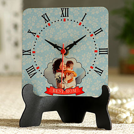 Best Mom Personalised Table Clock Hand Delivery