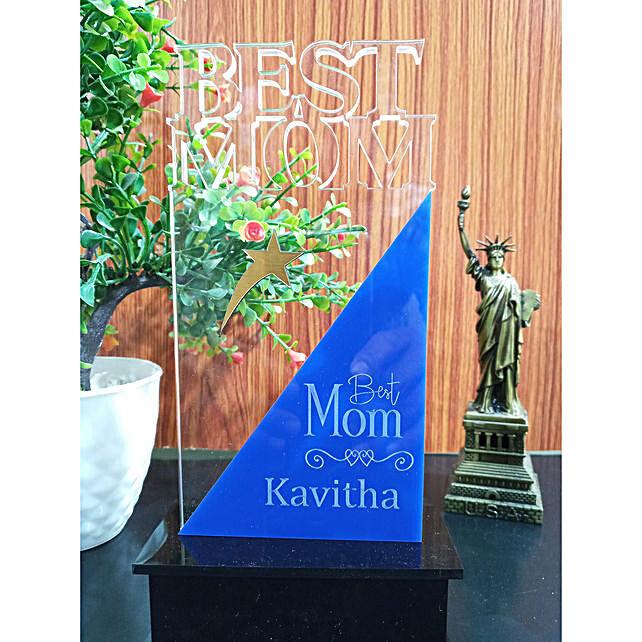 Best Mom Personalised Trophy