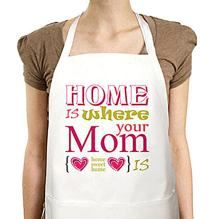 Best Moms Apron-Mother special Cute printed white apron:Apron