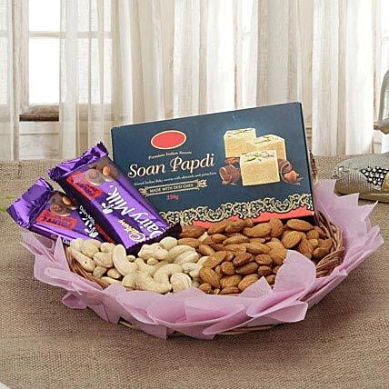 Combo of chocolates, dry fruits and:Diwali Sweets & Dry Fruits