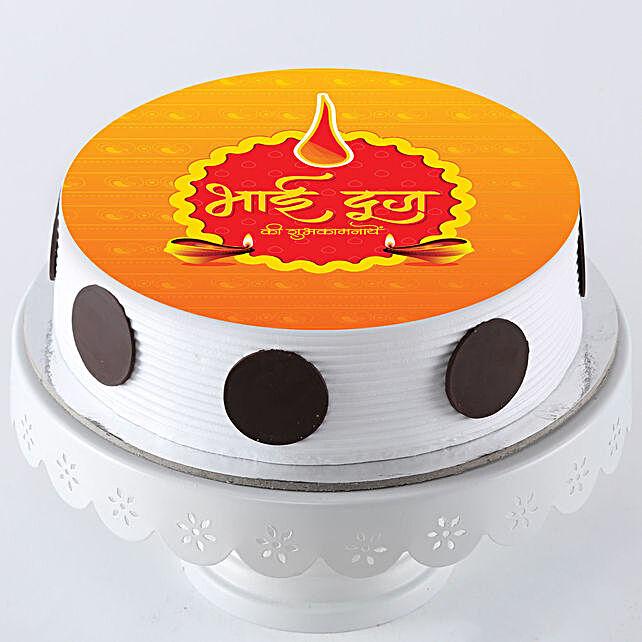 Bhaiya Dooj Wishes on Cake