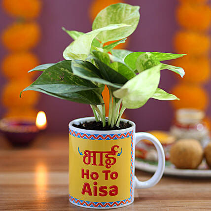 Plant in Printed Mug for Brother Online