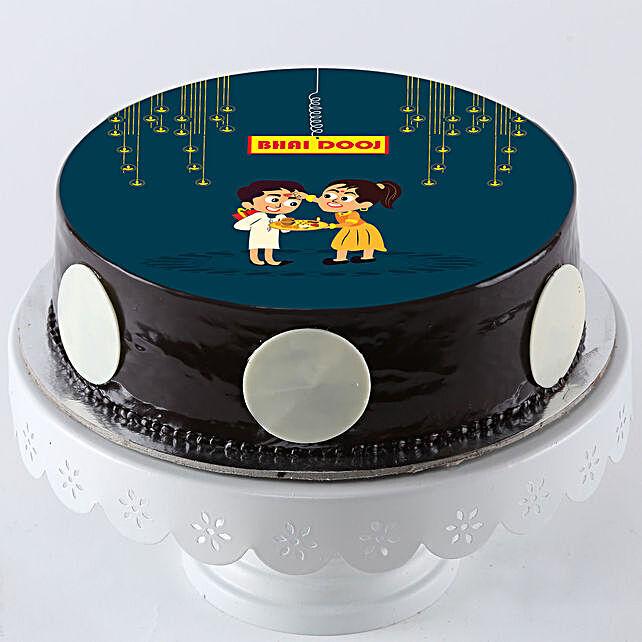 Cute Bhai Dooj Wishes Cake