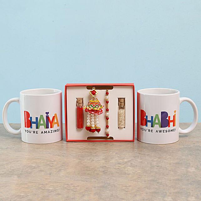 Rakhi and Mugs Combo for Family