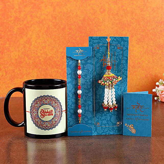 Happy Raksha Bandhan Mug with Rakhi Set