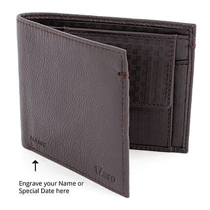Online Brown Bi-Fold Wallet For Men:Personalised Leather Gifts