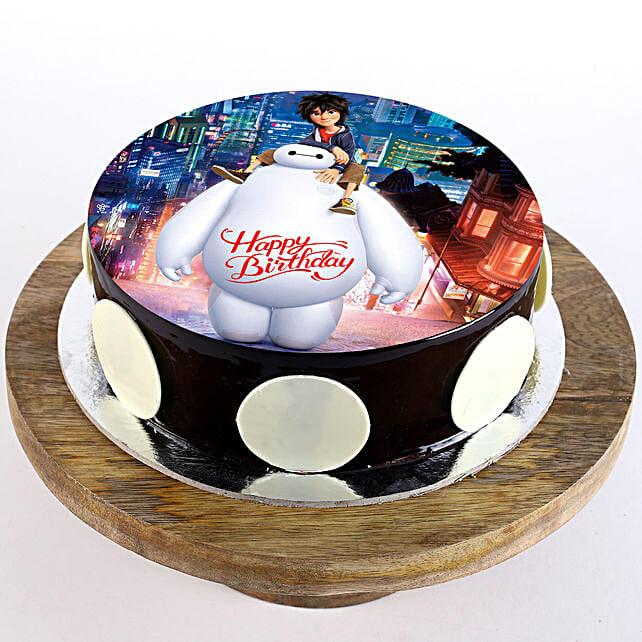 online cartoon cake for birthday