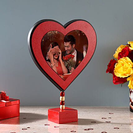 Heart shape photo frame for valentine day