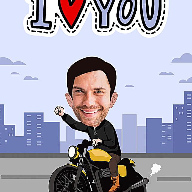 personalised digital poster for boyfriend