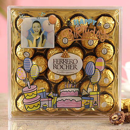 Birthday Blast Ferrero Rocher Personalised Box:Personalised Chocolates Kolkata