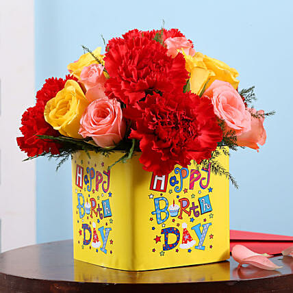 Online Birthday Floral Surpise:Send Mixed Flowers