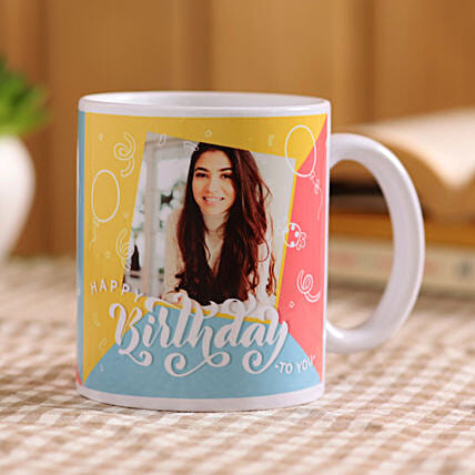 personalised birthday mug online:Birthday Mugs With Photos
