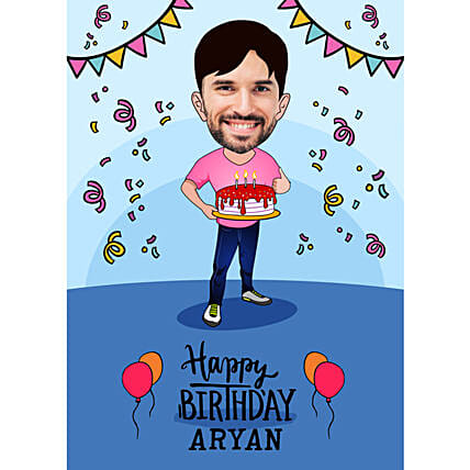 E-Caricature For Birthday Online