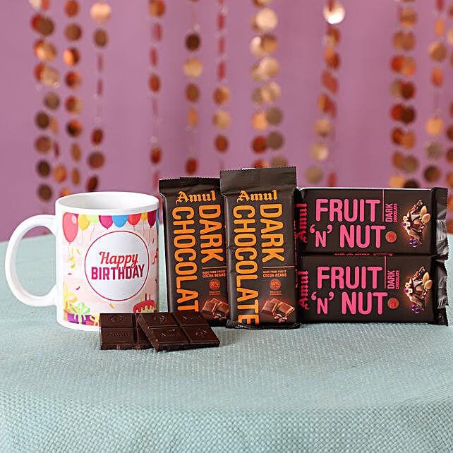Birthday Wishe Mug  And Chocolates