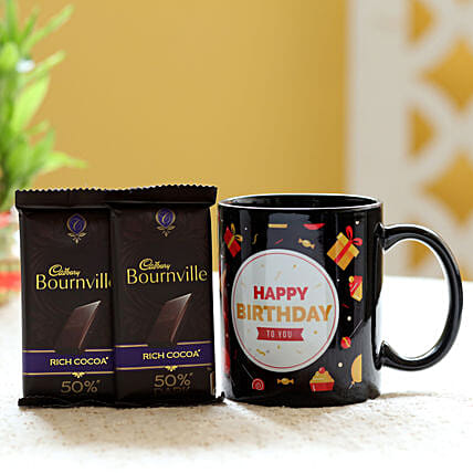 Chocolate with Birthday Mug Online