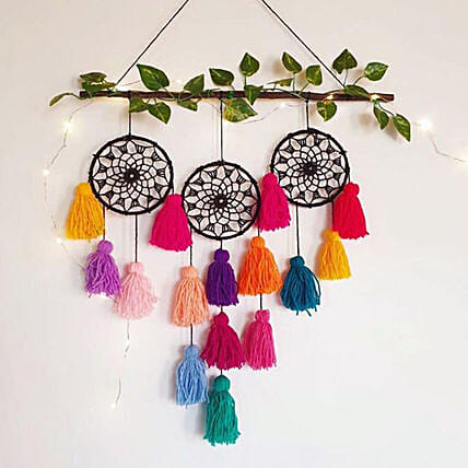 black 3-rings dreamcatcher:Dream Catchers