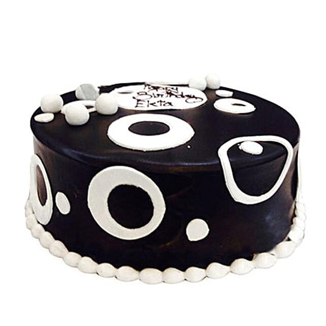 Black and White Cake 2kg Eggless