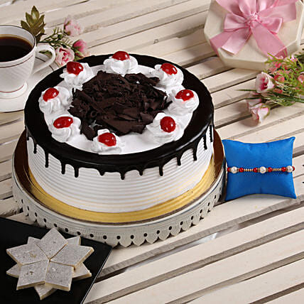 Cake and Sweets with Rakhi For Bhai:Order Rakhi with Cakes