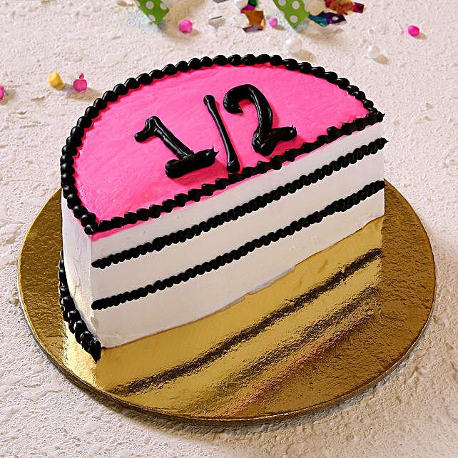 black forest cake online:Half Cakes