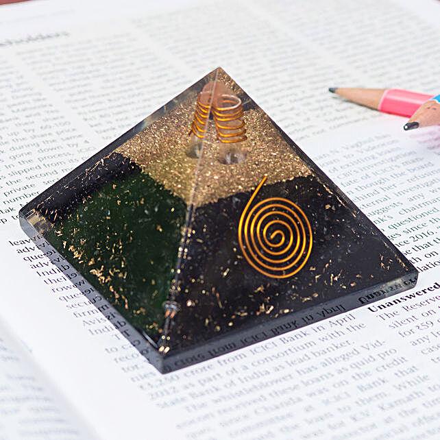 Black Tourmaline Pyramid Prism:Send Home Decor Gifts