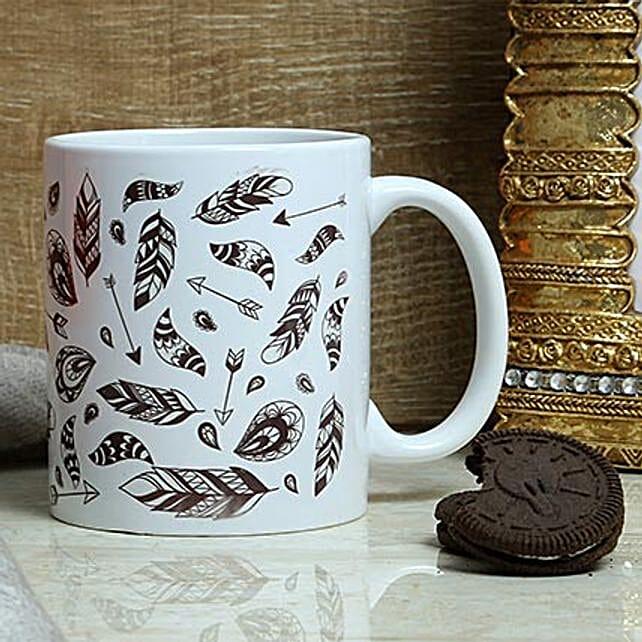 Printed white mug