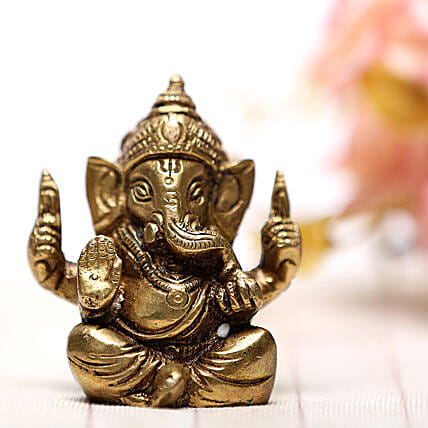 Blessing Of Ganesha-Brass idol of Ganesha:Send Spiritual Gifts