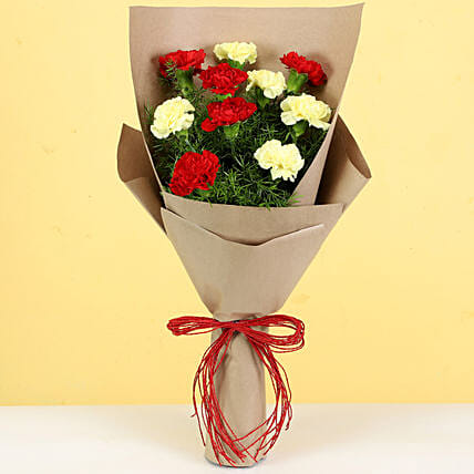 attractive carnation bouquet online