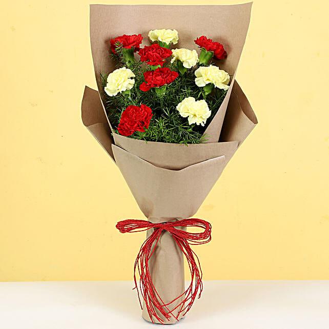 attractive carnation bouquet online