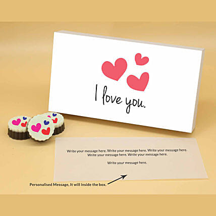 Online Blooming Hearts Personalised Chocolates