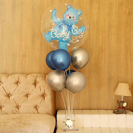 Baby Boy Bouquet Balloons Online:Send Gifts for Newborn