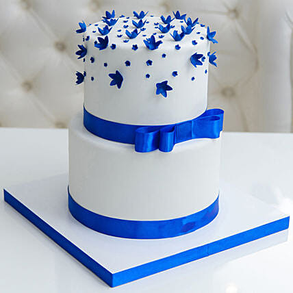 OnlineBlue Bow 2 Tier Truffle Cake