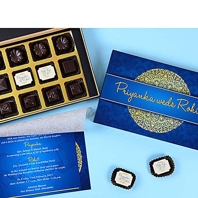 Classic Wedding Invitation & Chocolates Combo