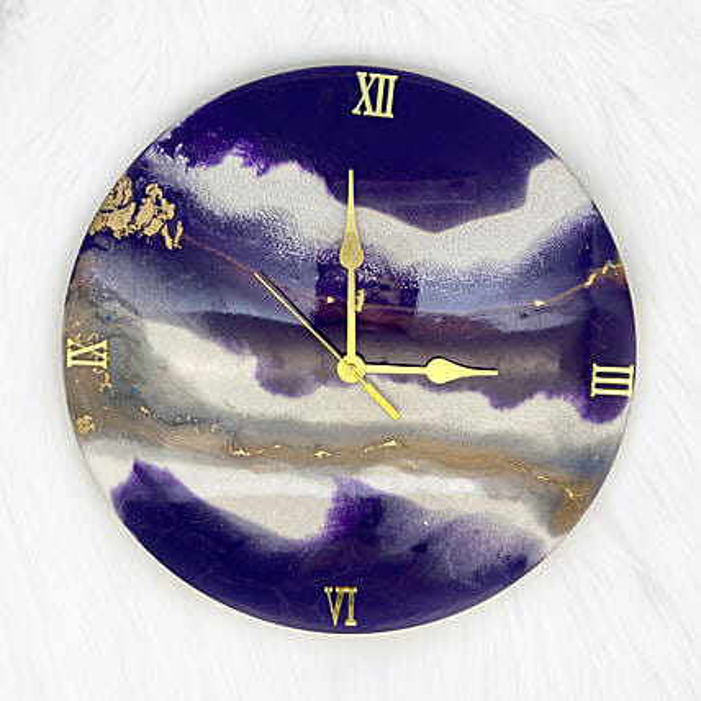 Online Blue Sky Round Clock