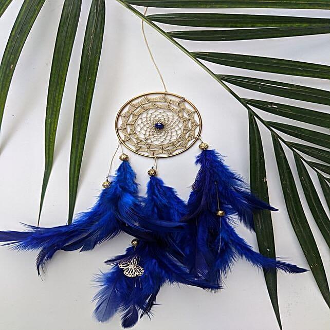 Bohemain dreamcatcher car hanging Royal Blue