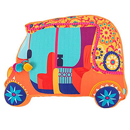 Bohemian Auto Trip Shape Cushion
