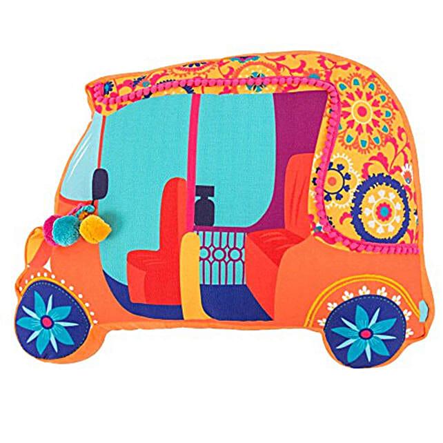 Bohemian Auto Trip Shape Cushion:Funny Gifts