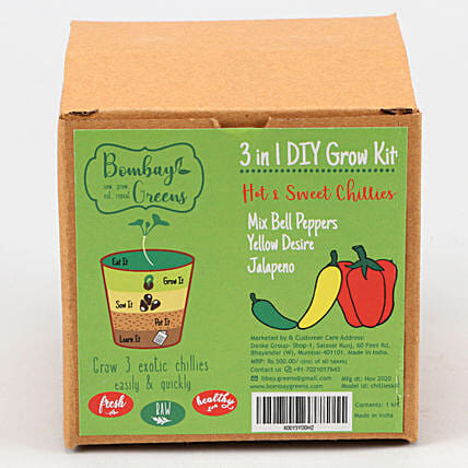 Bombay Greens DIY Chillies Grow Kit