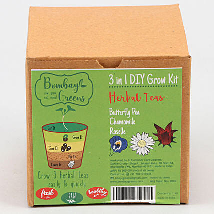 Bombay Greens DIY Herbal Tea Grow Kit