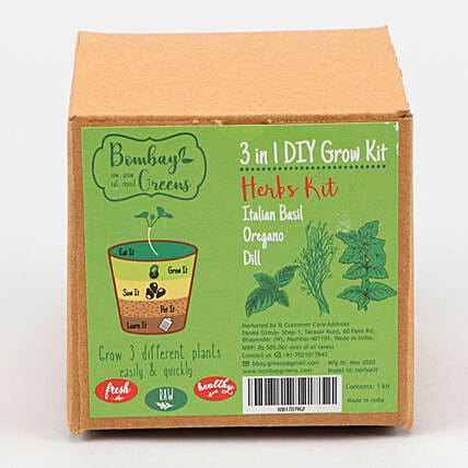 Bombay Greens DIY Herbs Grow Kit Set