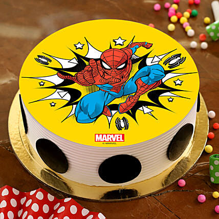 Boom Spiderman Pineapple Photo Cake
