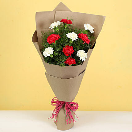 online charming carnations bouquet