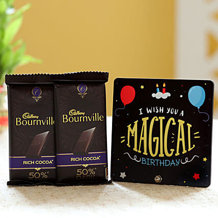 Chocolate Bars with Birthday Table Top Online:Buy Cadbury Chocolates