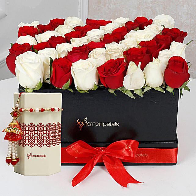 Flower and Pearl Rakhi Online