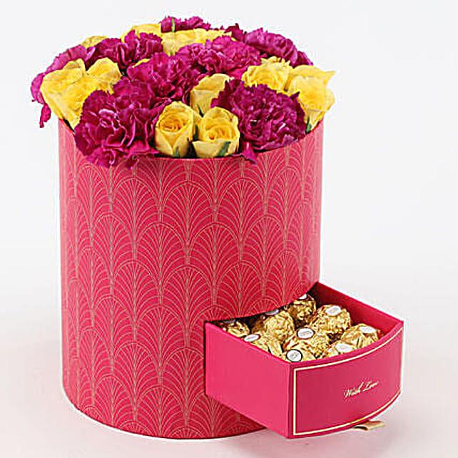 Premium Flower and Chocolate Arrangement