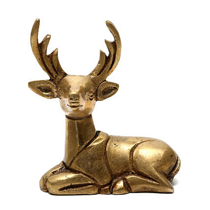 Brass Deer Idol-loved one with a classy and alluring idol of deer